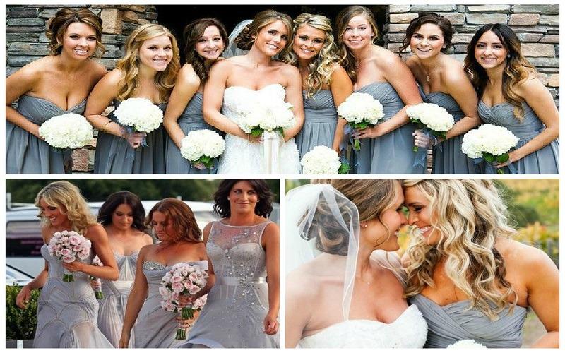 Shades Of Grey Bridesmaid Dresses Wedding Journal