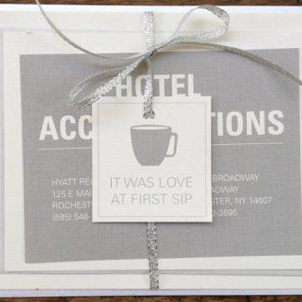 coffee themed wedding invitation