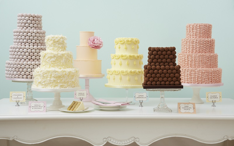 table of cakes