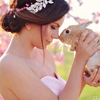 bride and bunny
