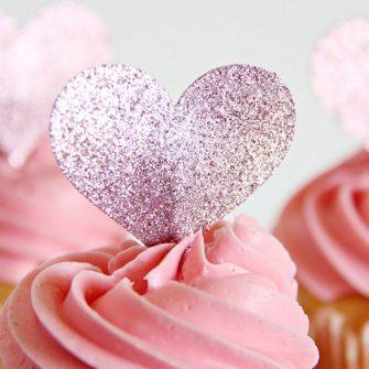 cupcake and hearts