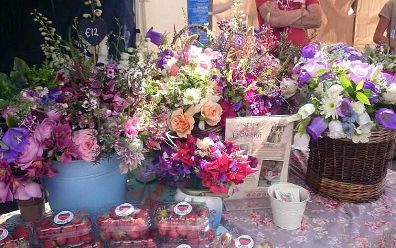 vintage cut flowers