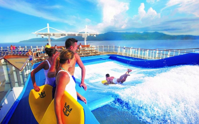 water slide on cruise ship