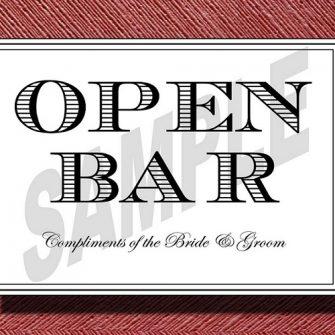 Open Bar Sign