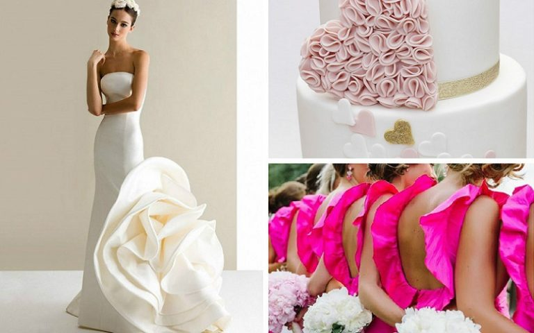 Host a ruffle theme wedding