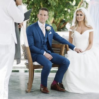 Rosanna Davison wedding day