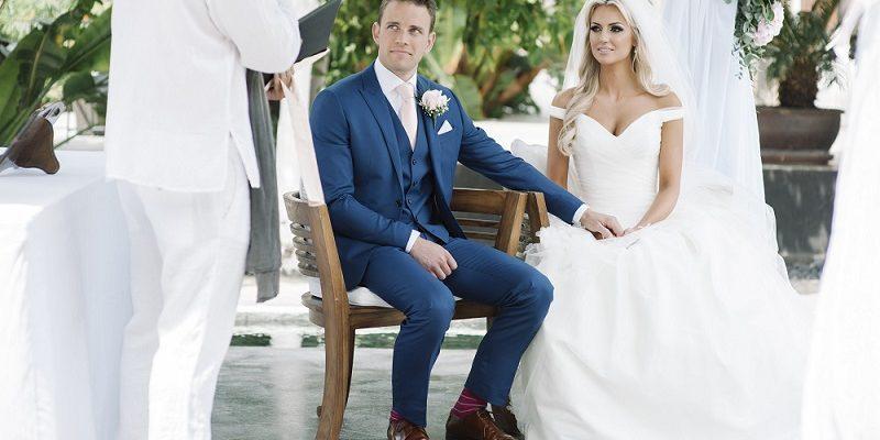 Rosanna Davison wedding day