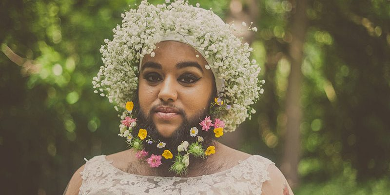Bearded Bride Shares Positive Message