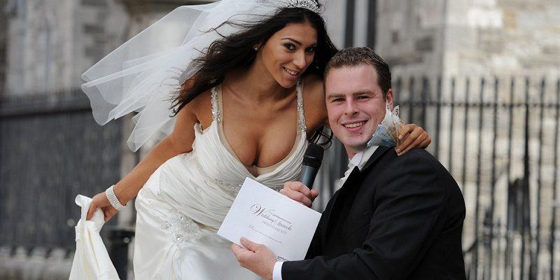 Georgia Salpa dressed up as bride