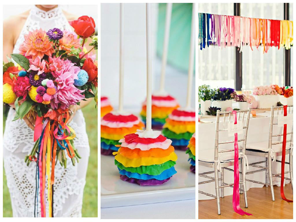 Colourful Rainbow Wedding Inspiration
