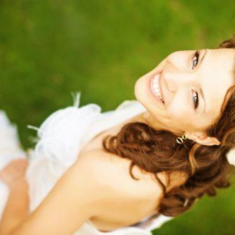 Pre-wedding teeth whitening