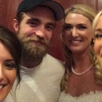 Robert Pattinson and Danny O'Donoghue crash wedding