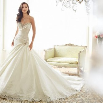 Drop waisted wedding dress inspiration – 37 stunning styles