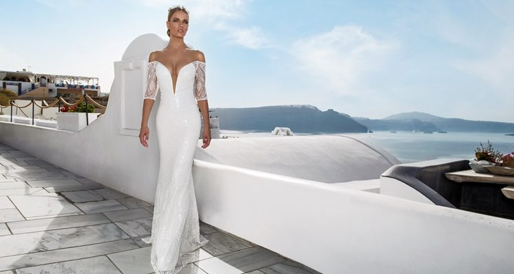 low-cut wedding dresses