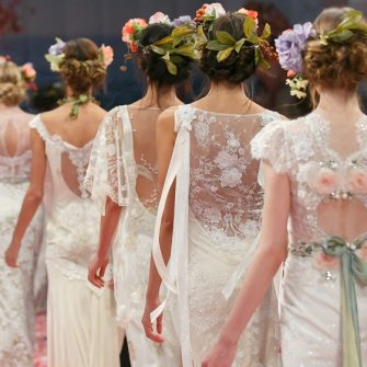 wedding hair trend - floral garland