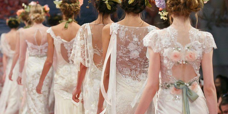 wedding hair trend - floral garland