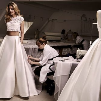 two-piece wedding dress 1