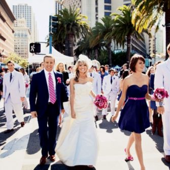 navy and fuschia wedding colour inspiration 6