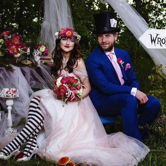 Alice in Wonderland themed wedding 1