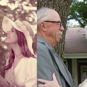 couple recreate photo