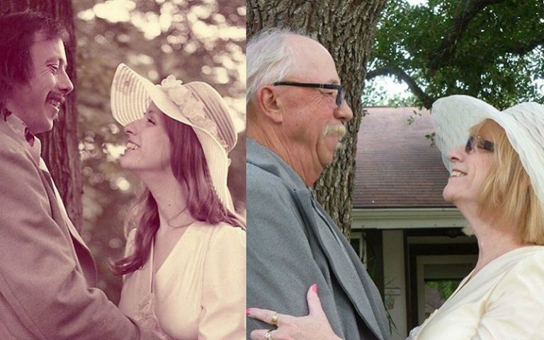 couple recreate photo