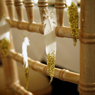 feather wedding decoration 5