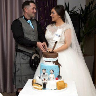 Greggs themed wedding