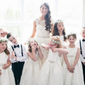 teacher has entire class in bridal party