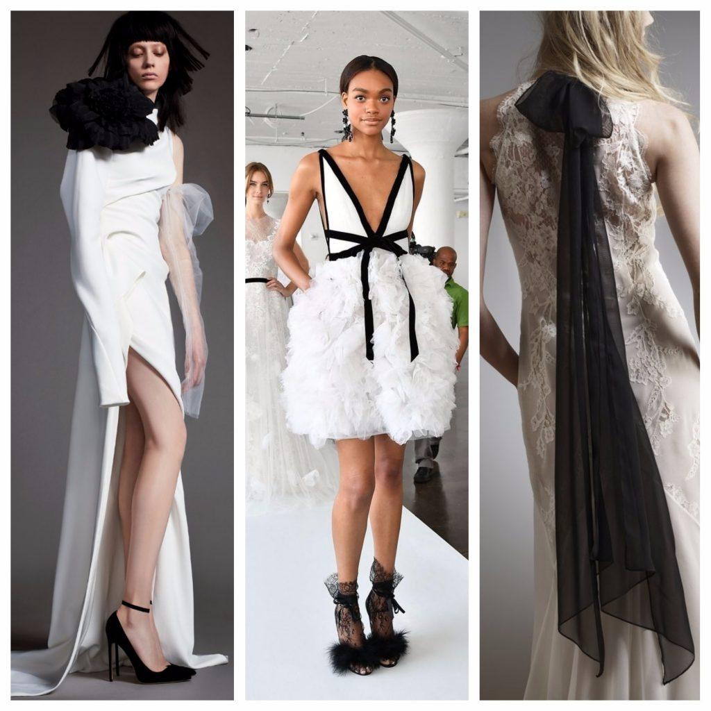 Monochrome bridal trend