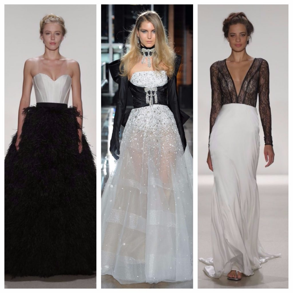 statement monochrome gowns