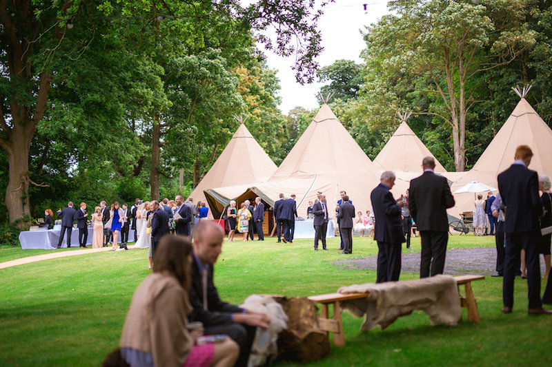 tents set up for wedding