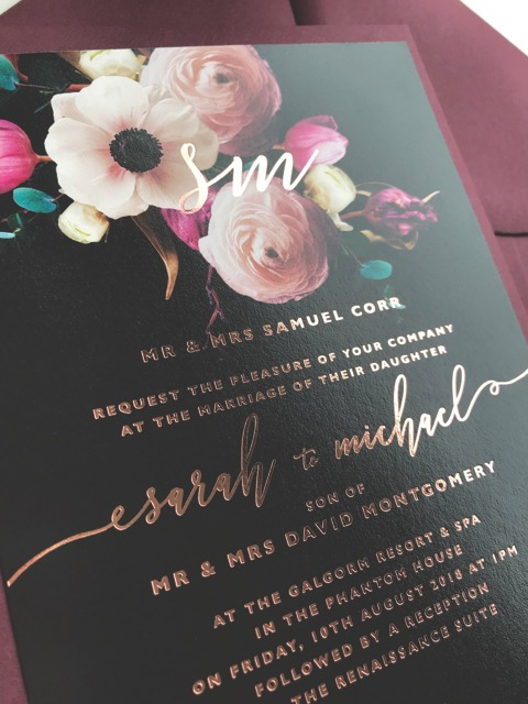Darling Stationery Black and Gold
