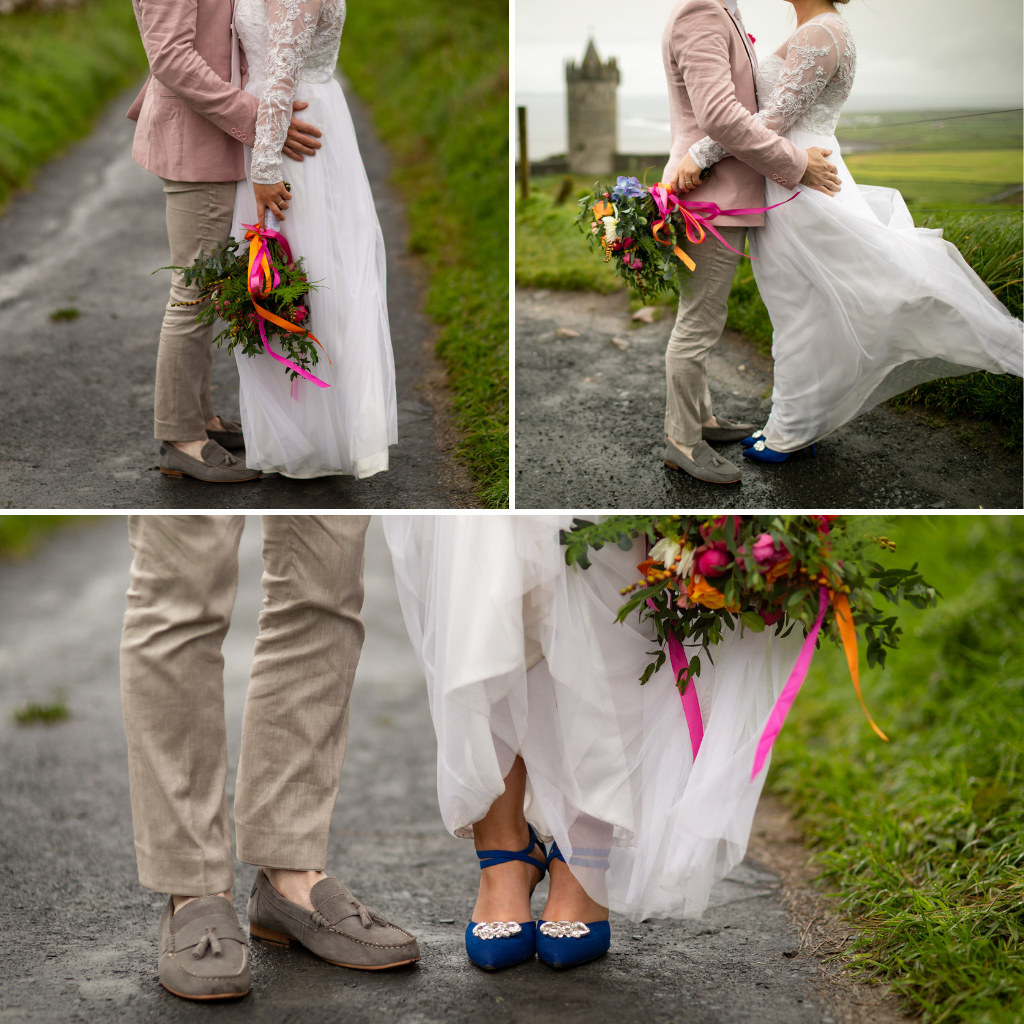 RLW-Celine-and-Niall-flowers-and-shoes