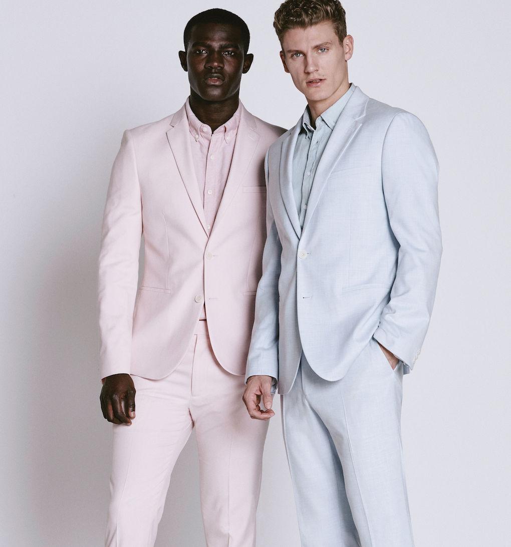 Blue groomswear for summer