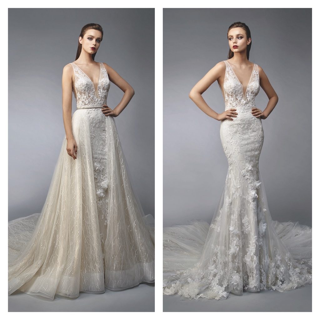 Two wedding dresses in one