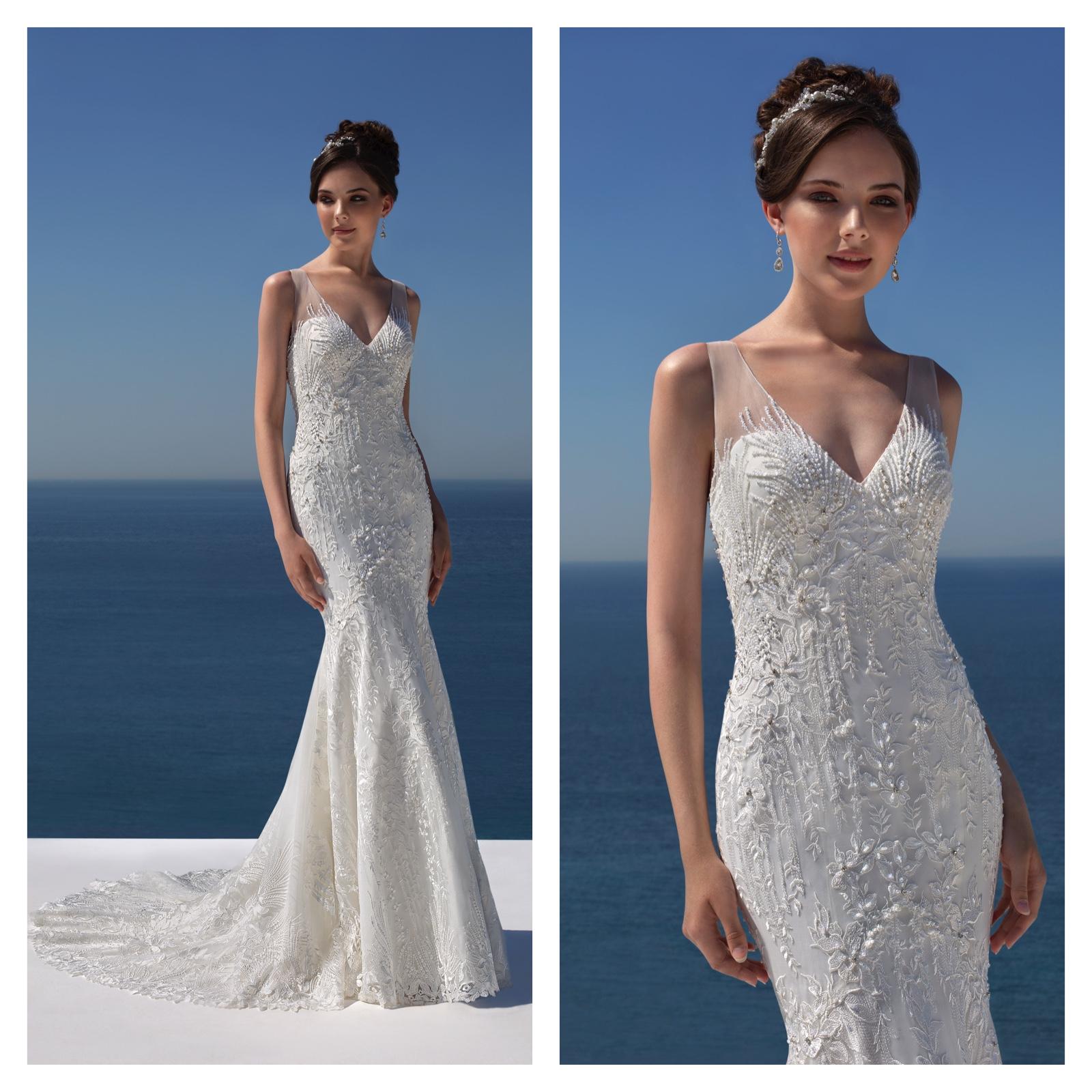 Donna Salado White Wedding Dress