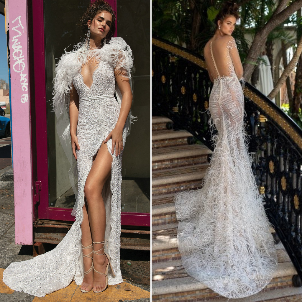 Feathered-Dresses-Met-Gala-2019-Berta-Bridal