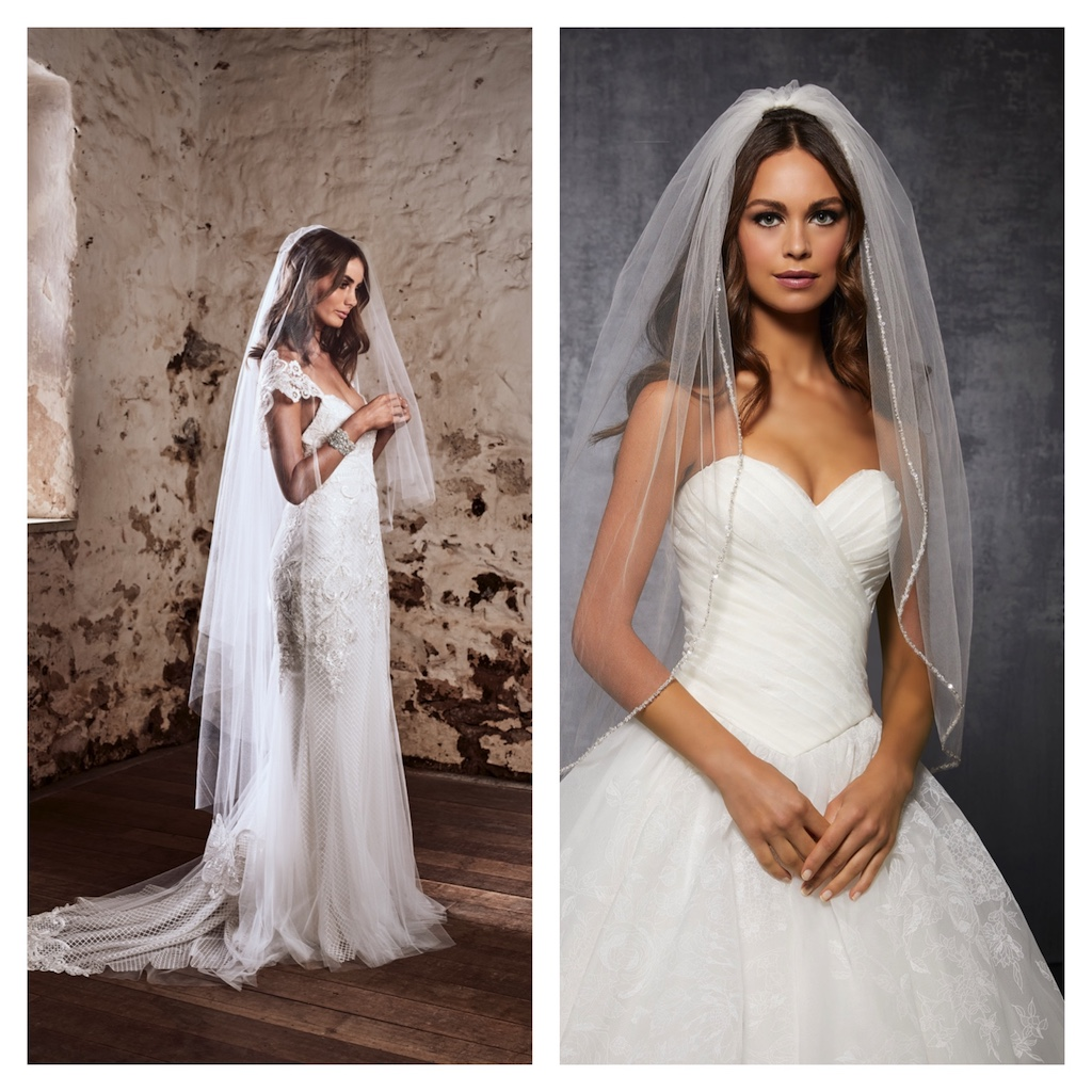 654cde9b1e6 L-R  Veil from Anna Campbell   Style VL1046 from Morilee