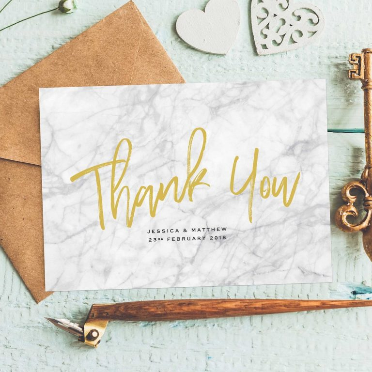 Wedding stationery - Thank YOu Cards