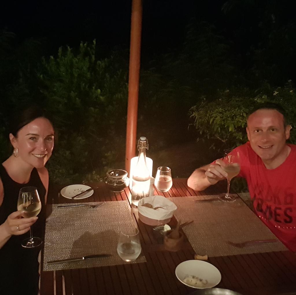 Dinner at Raffles Seychelles