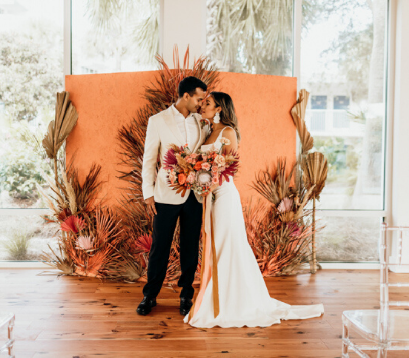 Burnt-Orange-Wedding-Theme-Ceremony-Backdrops