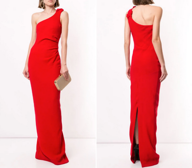 Red-Wedding-Dresses-One-Shoulder-Elegant