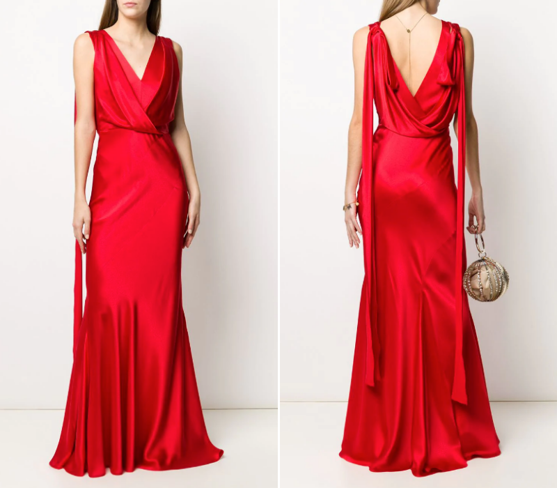 Red-Wedding-Dresses-V-Scoop-Back-Dress