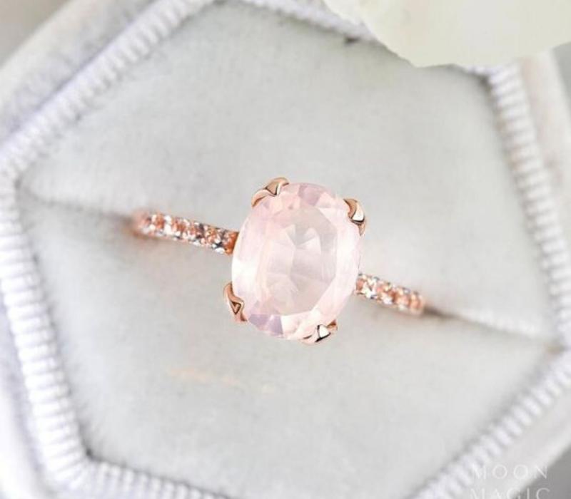Rose Quartz-Engagement-Ring