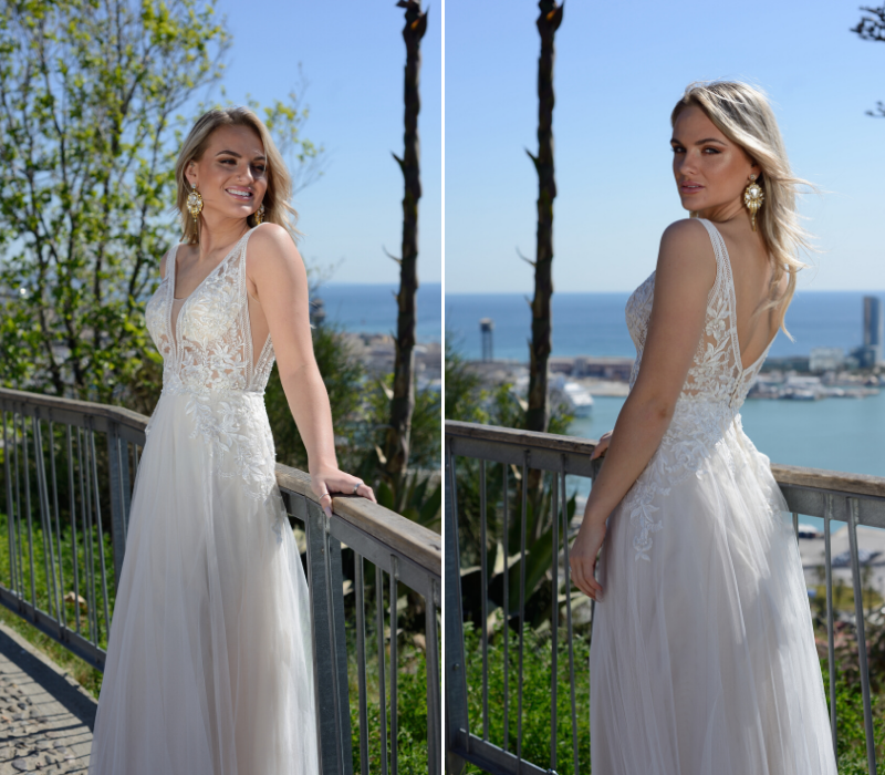Catherine Parry boho bridal wedding dress
