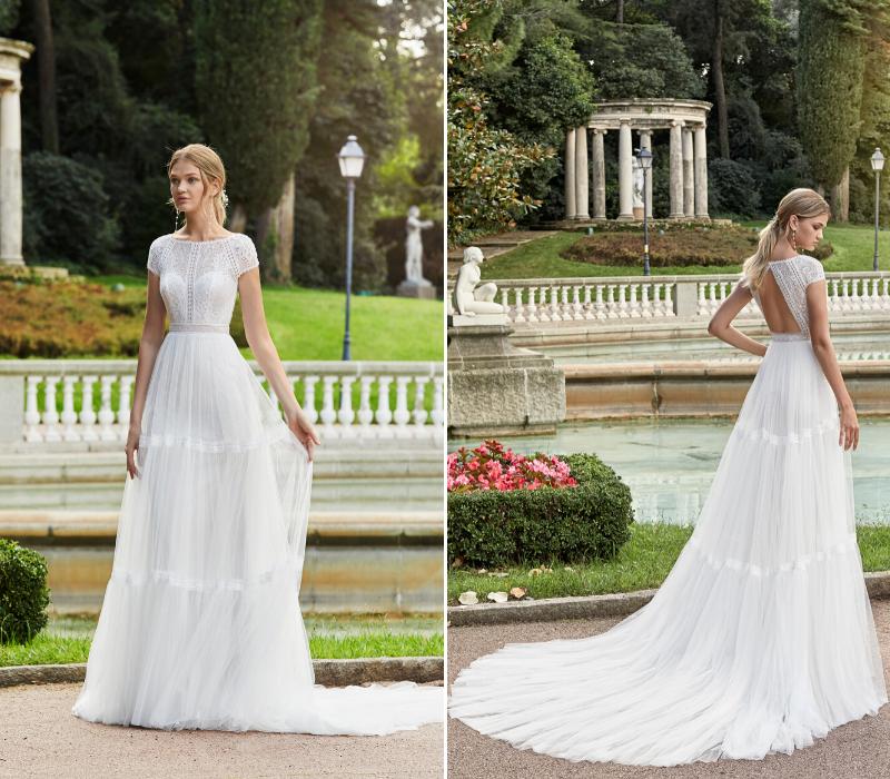 Aire Barceleona boho bridal wedding dress