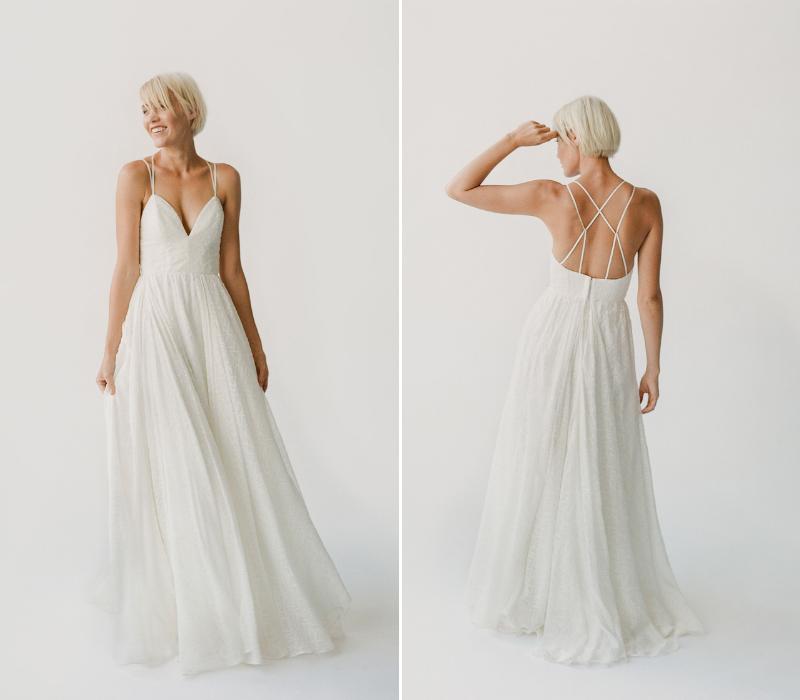 Truvelle boho bridal wedding dress