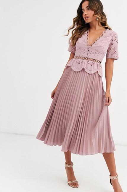 Pleated tea dress