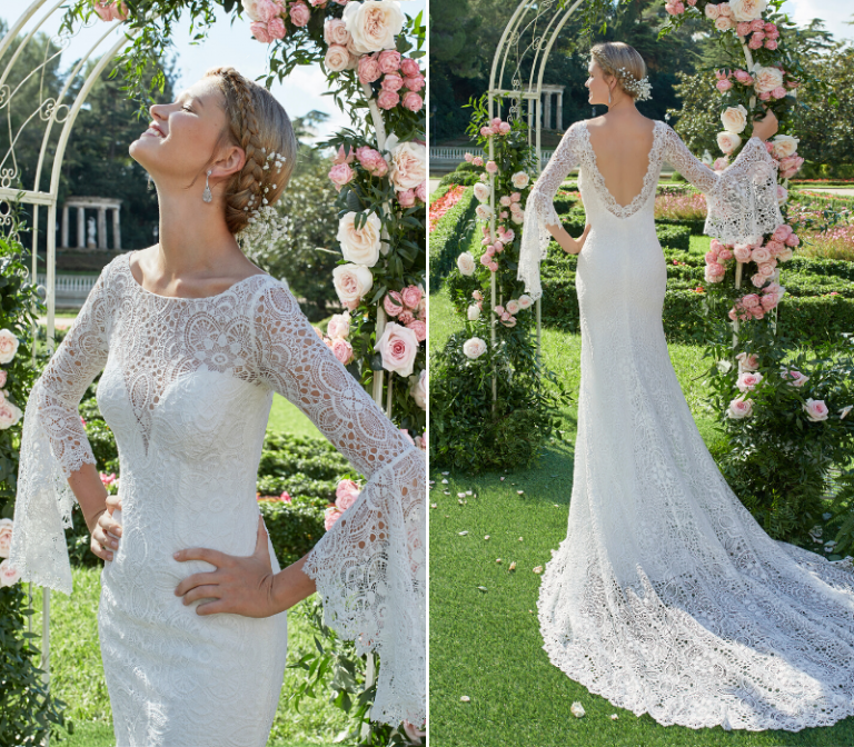 Aire Barcleona boho bridal wedding dress
