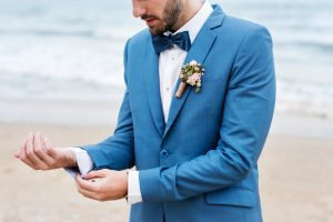 Groom at the beach